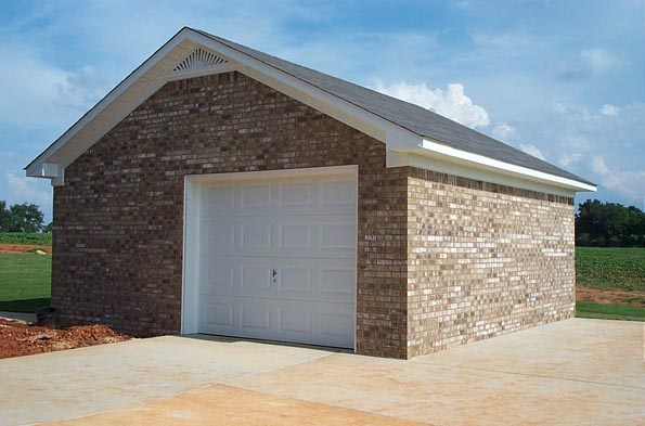 Precision masonry projects page for Brick garage plans
